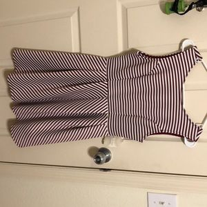 NWT ALTARD STATE RED AND WHITE STRIPED DRESS